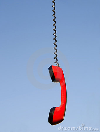 Free Red Phone Handset Stock Image - 21205511