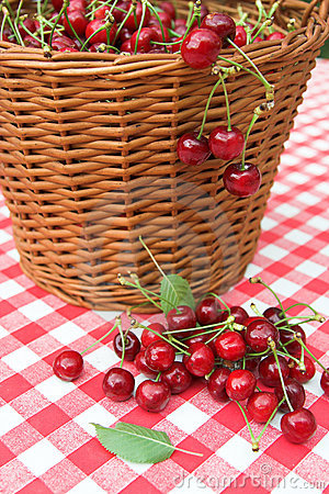 Red Picnic Cloth With cherry