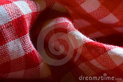 Red picnic cloth pattern detail