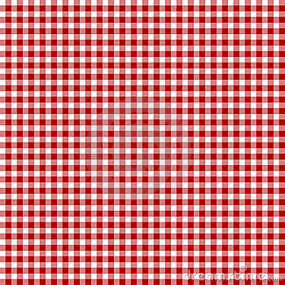 Red picnic fabric