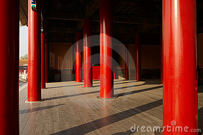 Red pillars of Forbidden City