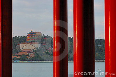 Red Pillars in Summer Palace