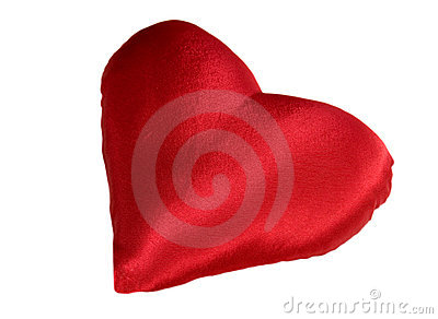 Red pillow as heart