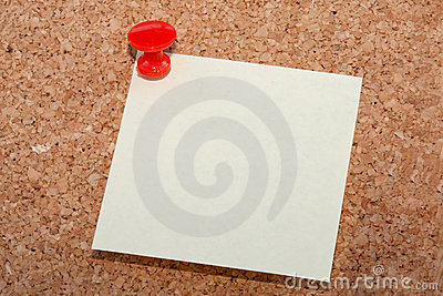 Red pin with note