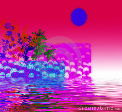 Red and pink abstract design