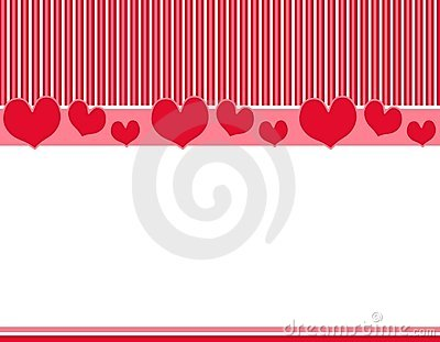 Red Pink Hearts Stripes Border 2