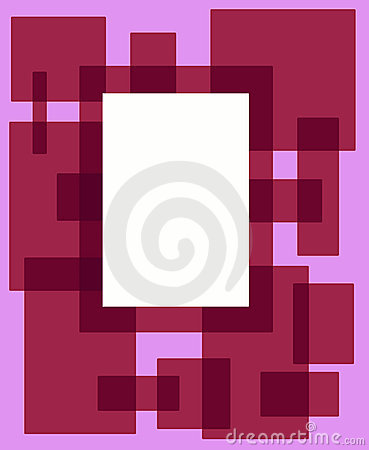 Red and pink rectangle frame