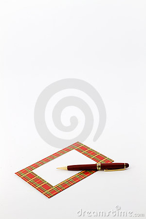Red Plaid Framed Note