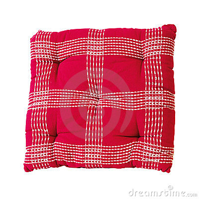 Red plaid pillow