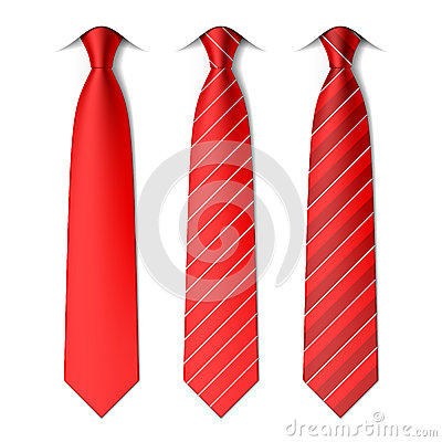 Free Red Plain And Striped Ties Stock Photos - 48695013