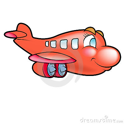 Plane  on Red Plane Flying