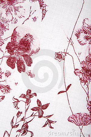 Red plants flower fabric texture