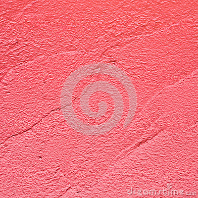 Red plaster surface