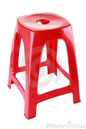Red Plastic Chair Stock Image - Image: 21830041