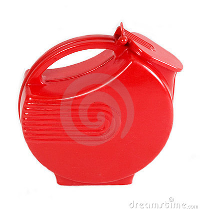 Red Plastic Deco Water Pitcher