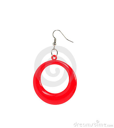 Red Plastic Earring