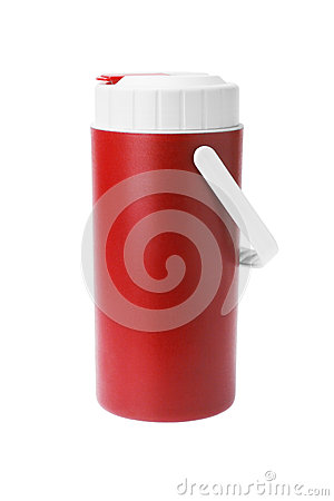 Red Plastic flask