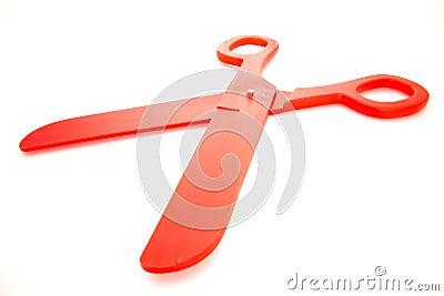 Red plastic scissors toy