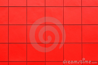 Red plastic siding wall