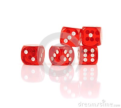 Free Red Playing Dices Isolated Stock Photography - 45407122