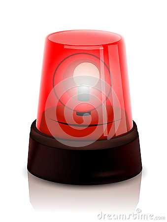 Free Red Police Beacon Royalty Free Stock Photo - 33551105