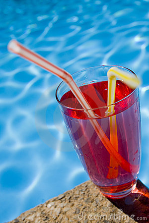 Red Poolside Cocktail