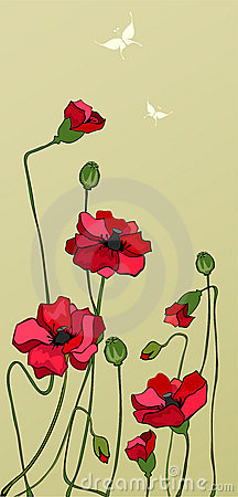 Free Red Poppies Royalty Free Stock Images - 4964519