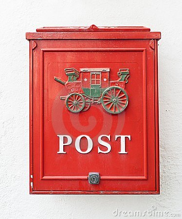 Free Red Postbox Royalty Free Stock Photos - 23971848
