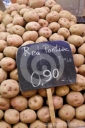 Red Potatoes at the Market Barcelona