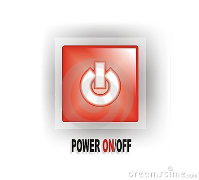 Red Power ON/OFF Button
