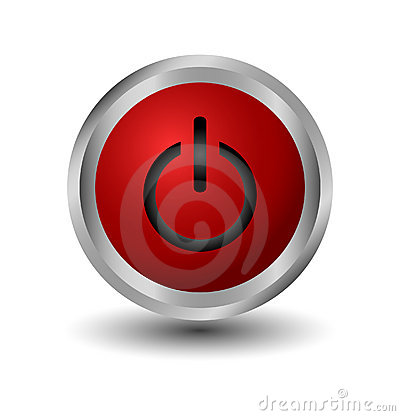 Free Red Power Web Button Royalty Free Stock Photography - 9225267