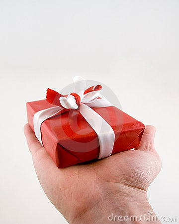 Red Present with Bow