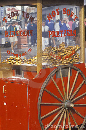 Red Pretzel Cart