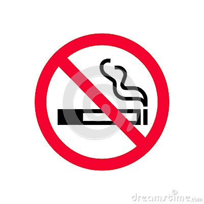 Free Red Prohibition No Smoking Sign. Forbidden Sign Don`t Smoke. Royalty Free Stock Photos - 113262758