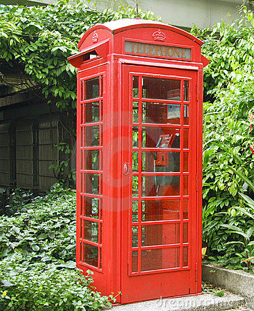 Free Red Public Telephone Stock Images - 6343194