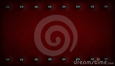Red or purple background with rivets