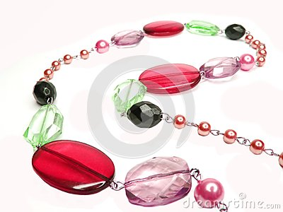 Red purple colored beads
