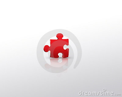 Red puzzle alone