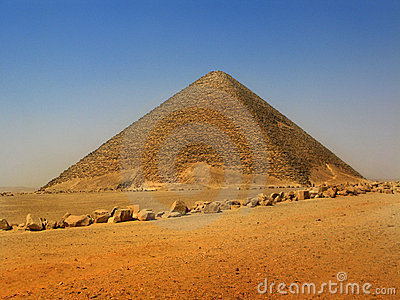 Red pyramid of Sneferu at Dahshur, Cairo, Egypt