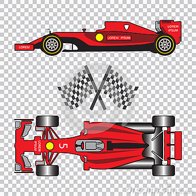 Red Racing Car Cartoon Vector Cartoondealer Com