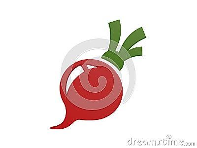 Red radish symbol