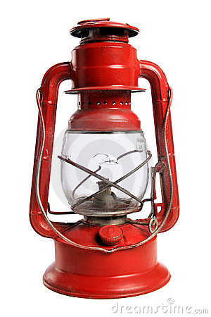 Free Red Railroad Lantern Stock Image - 15875071
