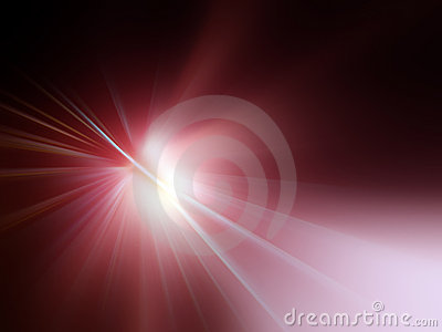 Red rays of light