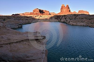 Red Reflections at Glen Canyon, Utah