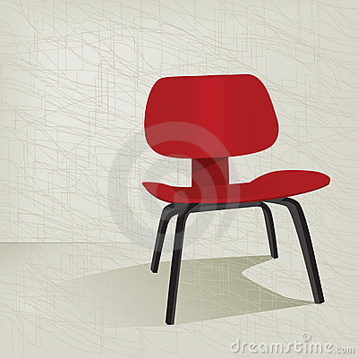 Red Retro 50s Chair