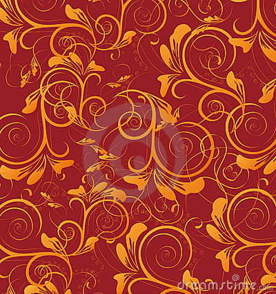 Free Red Retro Flower Seamless Pattern Stock Photo - 13841790