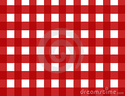 Red retro gingham check
