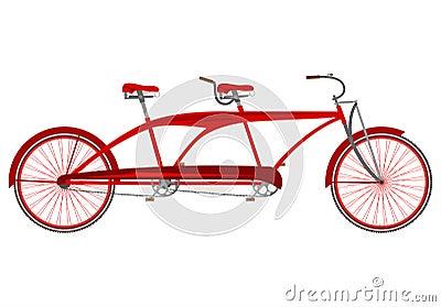 Red retro tandem