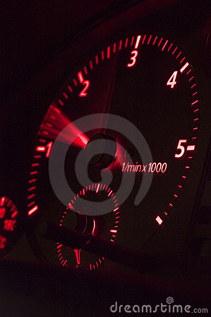 Red rev counter