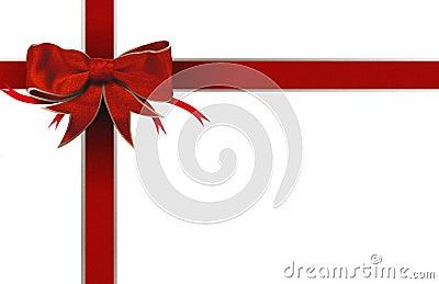 Red ribbon bow border